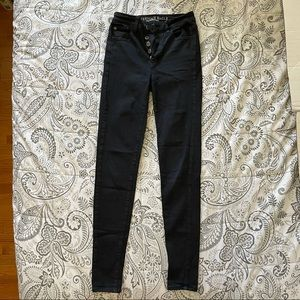 American Eagle Outfitters Black Jeggings Size 0